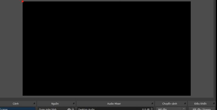 OBS screen shows a black color