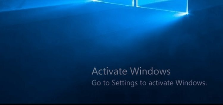Image of windows not active